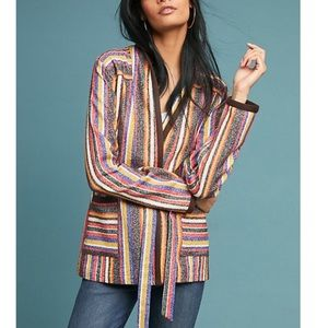 NWT Anthropologie Mansoura Striped Jacket sz M
